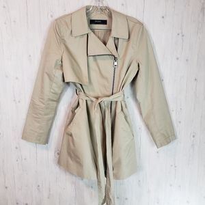 Zara Basic Tan Trench Coat Women's Medium